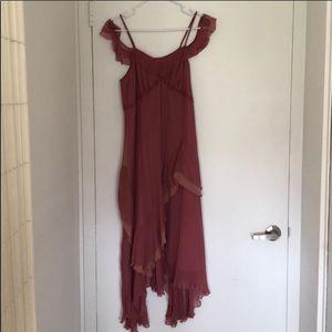 Anthropologie Dresses - 💐Anthro Regan Blush Ruffle Dress💕
